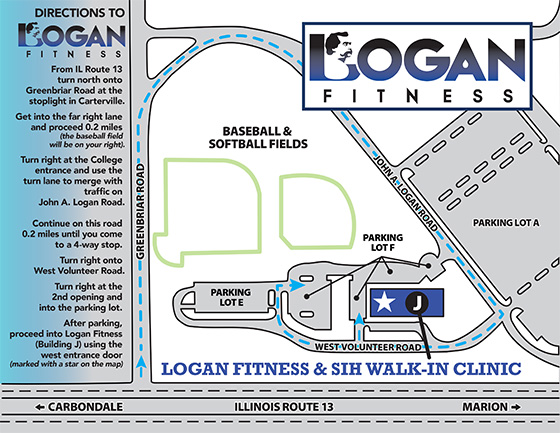 Directions to Logan Fitness