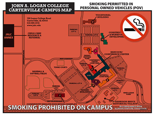 Campus Map for Smoking