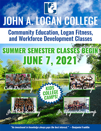 Brochure Cover for Community Education, Logan Fitness and Workforce Development - Summer 2021 Semester